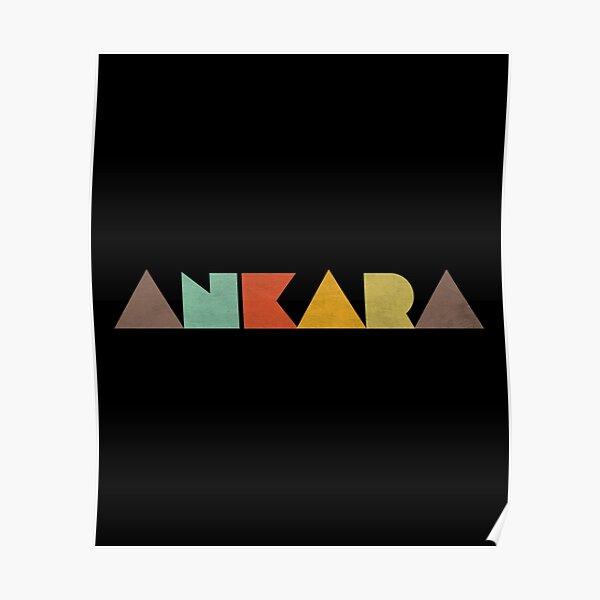 Ankara Vintage Poster