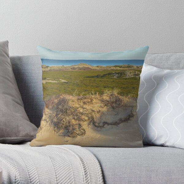 Dune. Island landscape Throw Pillow