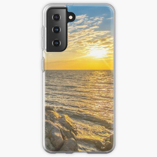 Stunning sunset over ocean and cliffs Samsung Galaxy Soft Case