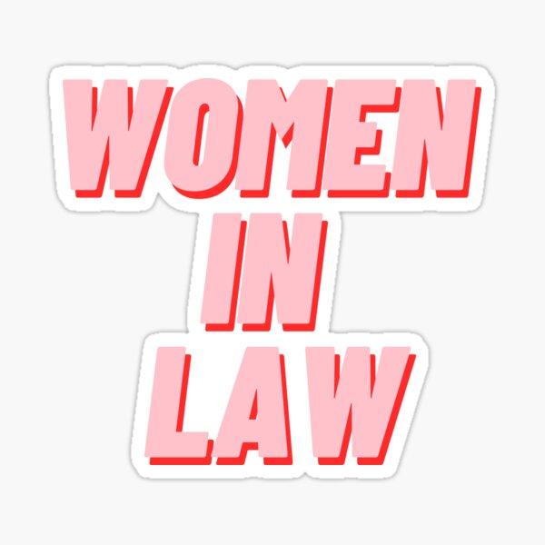 Women In Law Sticker