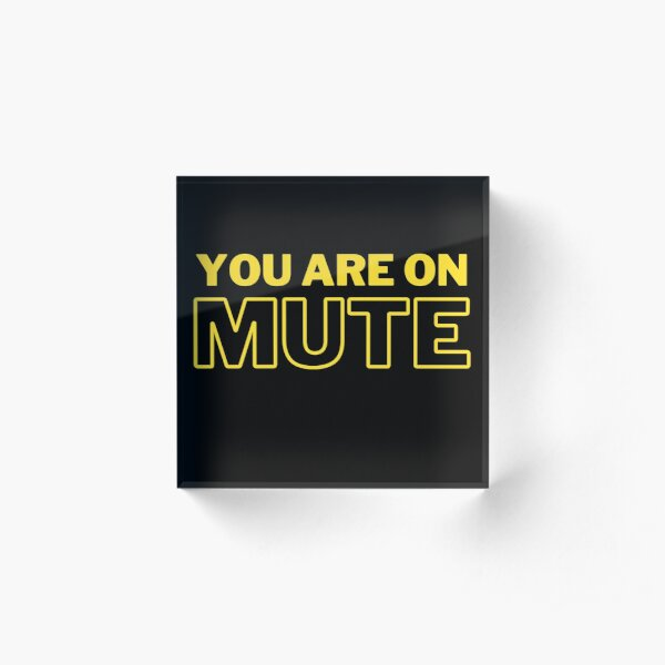 You Are On Mute Acrylic Block