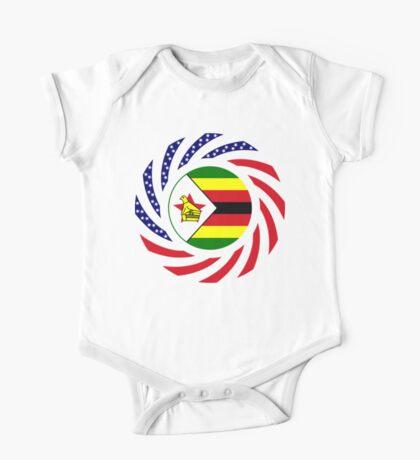 Zimbabwean American Multinational Patriot Flag Series Kids Clothes