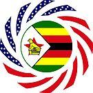 Zimbabwean American Multinational Patriot Flag Series by Carbon-Fibre Media