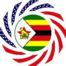 Zimbabwean American Multinational Patriot Flag Series by Carbon-Fibre Media