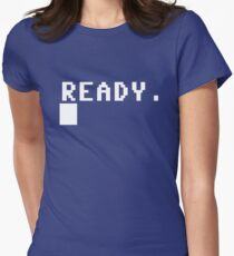 Commodore 64 - C64 - Ready. Women's Fitted T-Shirt