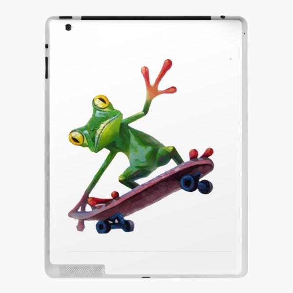 frog skateboard iPad Skin