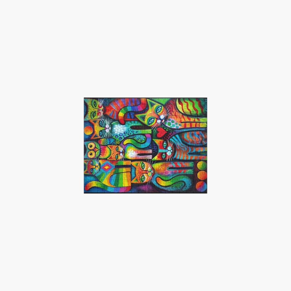 Owl and pussicats Jigsaw Puzzle