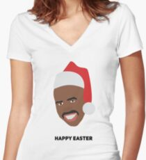 Steve Harvey Women's Fitted V-Neck T-Shirt