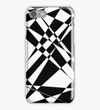 Black and white polygon iPhone Case/Skin