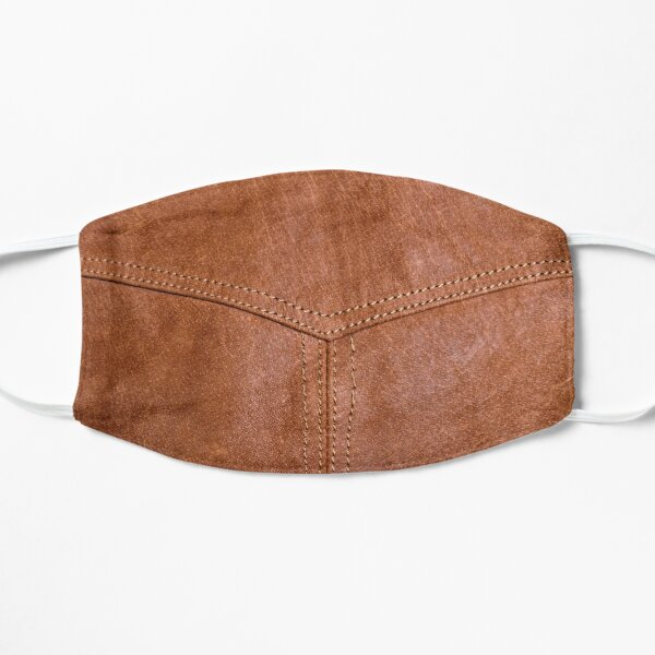 Brown Leather Texture Flat Mask