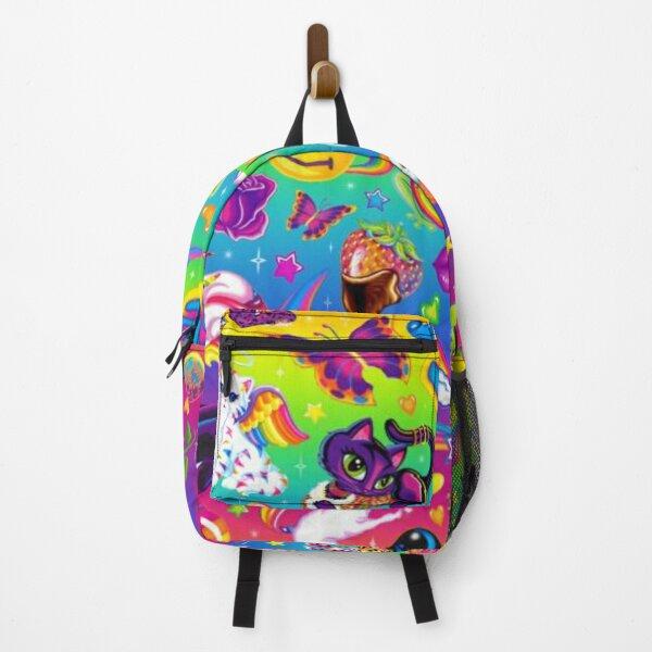 Lisa Frank rainbow mixed character pattern  Backpack