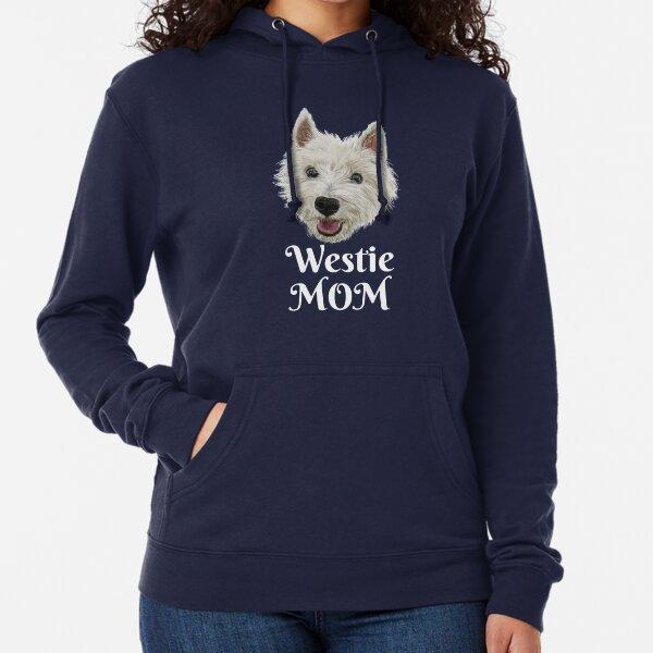 Westie Mom Smiling West Highland Terrier Lightweight Hoodie