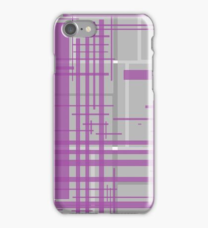 Pink purple grey boxes iPhone Case/Skin