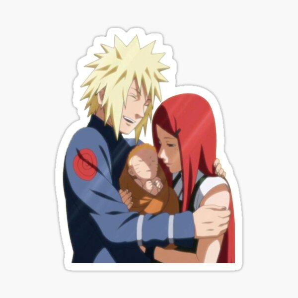 anime minato and kushina Sticker
