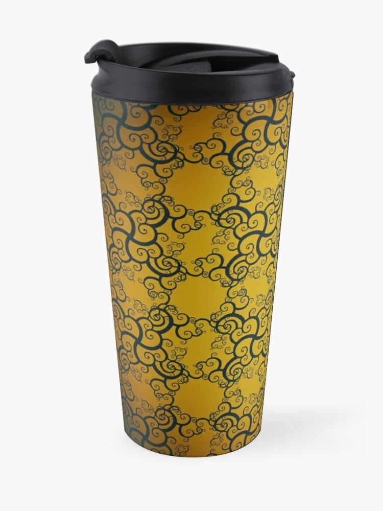 Alternate view of Swirl Damask Travel Mug