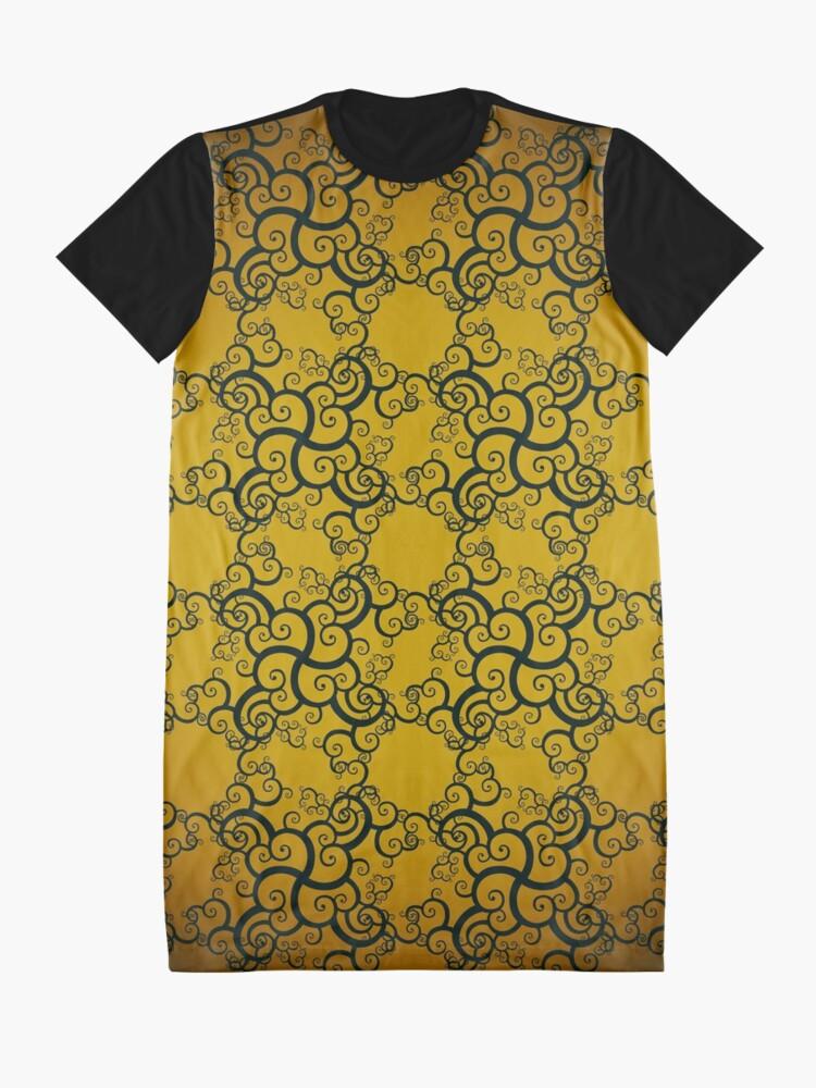 Alternate view of Swirl Damask Graphic T-Shirt Dress