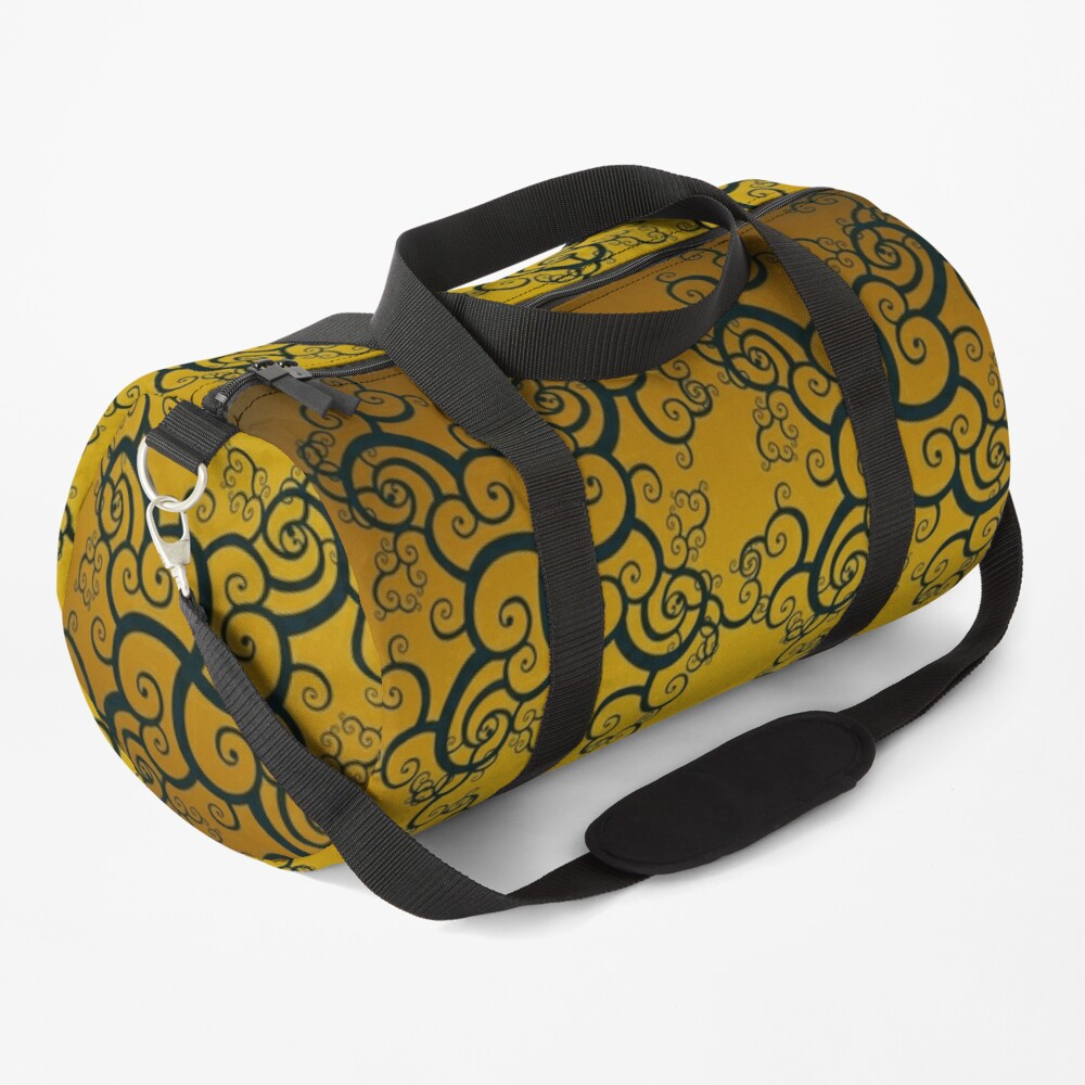 Swirl Damask Duffle Bag