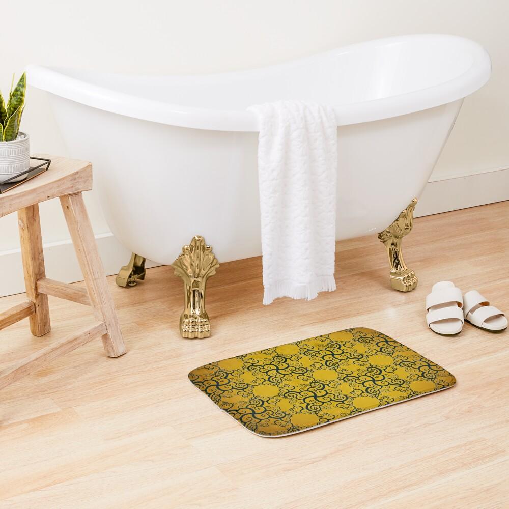 Swirl Damask Bath Mat
