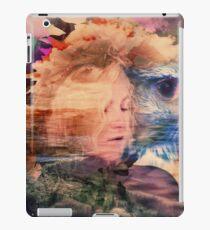 A lady and an eagle iPad Case/Skin