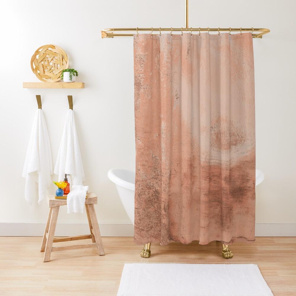 Beige concrete texture Shower Curtain