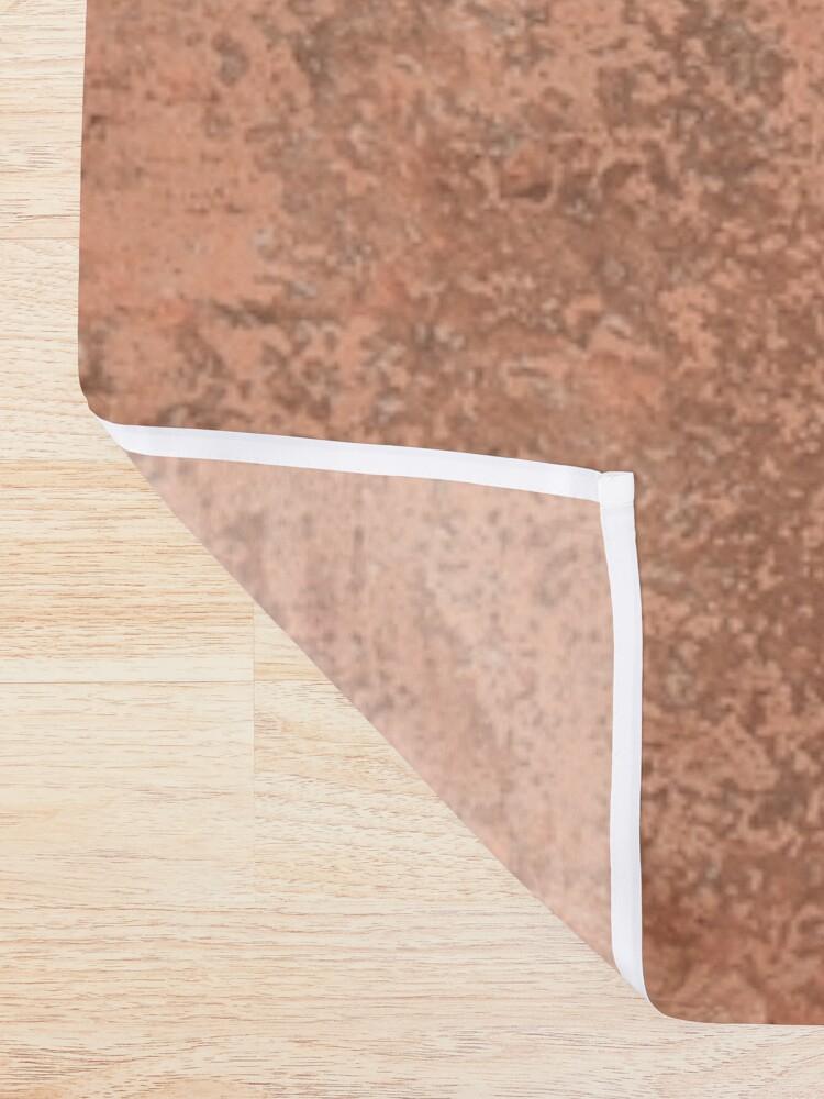 Alternate view of Beige concrete texture Shower Curtain
