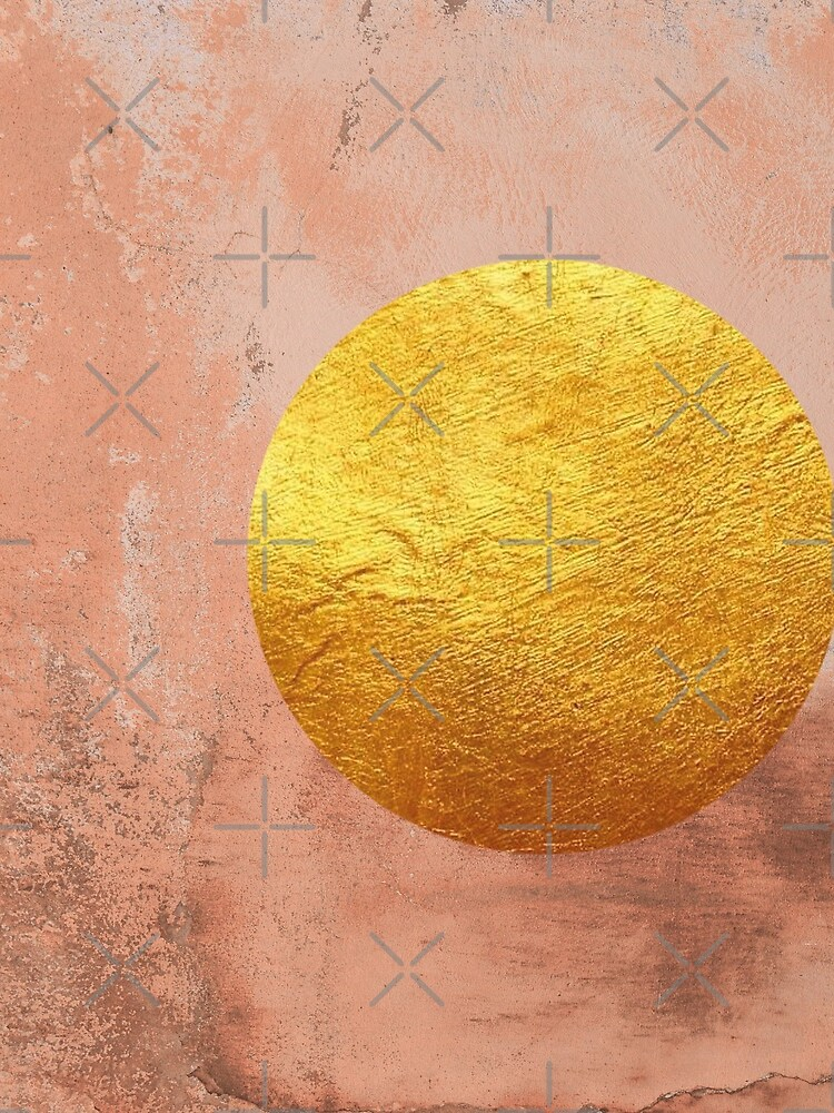 Beige concrete texture with golden moon by ColorsHappiness