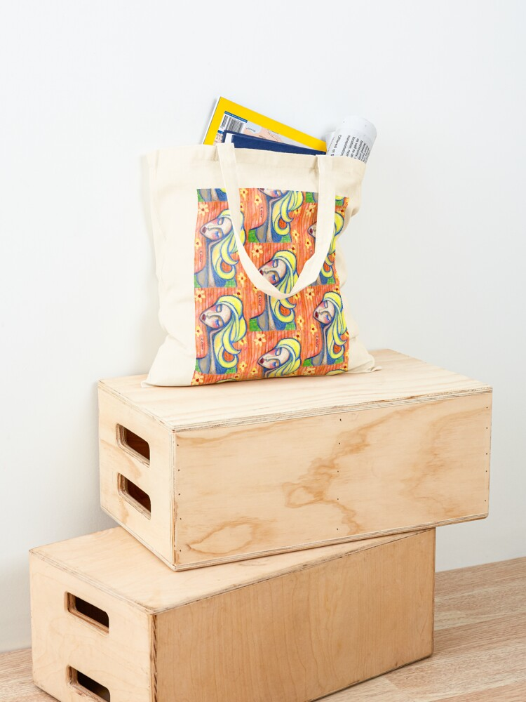 Alternate view of Pondering Girl  Tote Bag