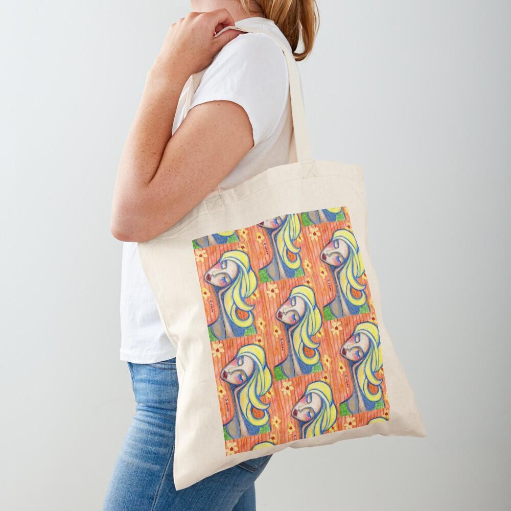Pondering Girl  Tote Bag