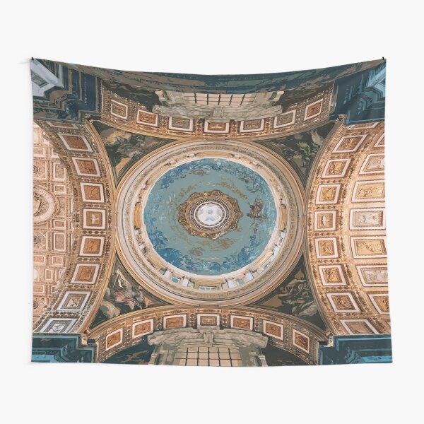 Architecture of Vatican city - Architecture of Citta Del vaticano - Church Decorated Roof Tapestry