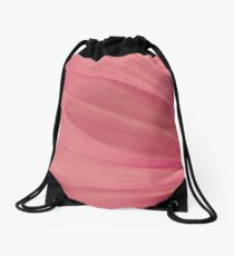 Pink Cosmo Petals Macro  Drawstring Bag