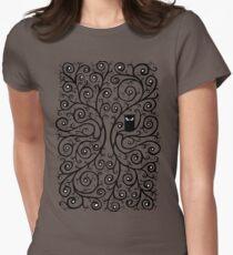 Die Eule Tailliertes T-Shirt für Frauen
