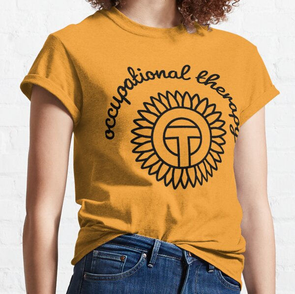 Occupational Therapy - OT OT Sunflower Black outline Classic T-Shirt