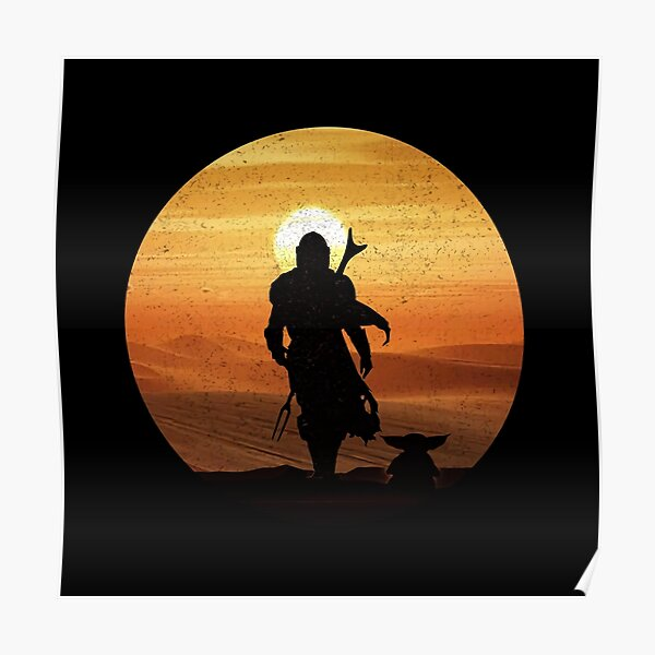 Mandos Babys Inspired Silhouette Poster
