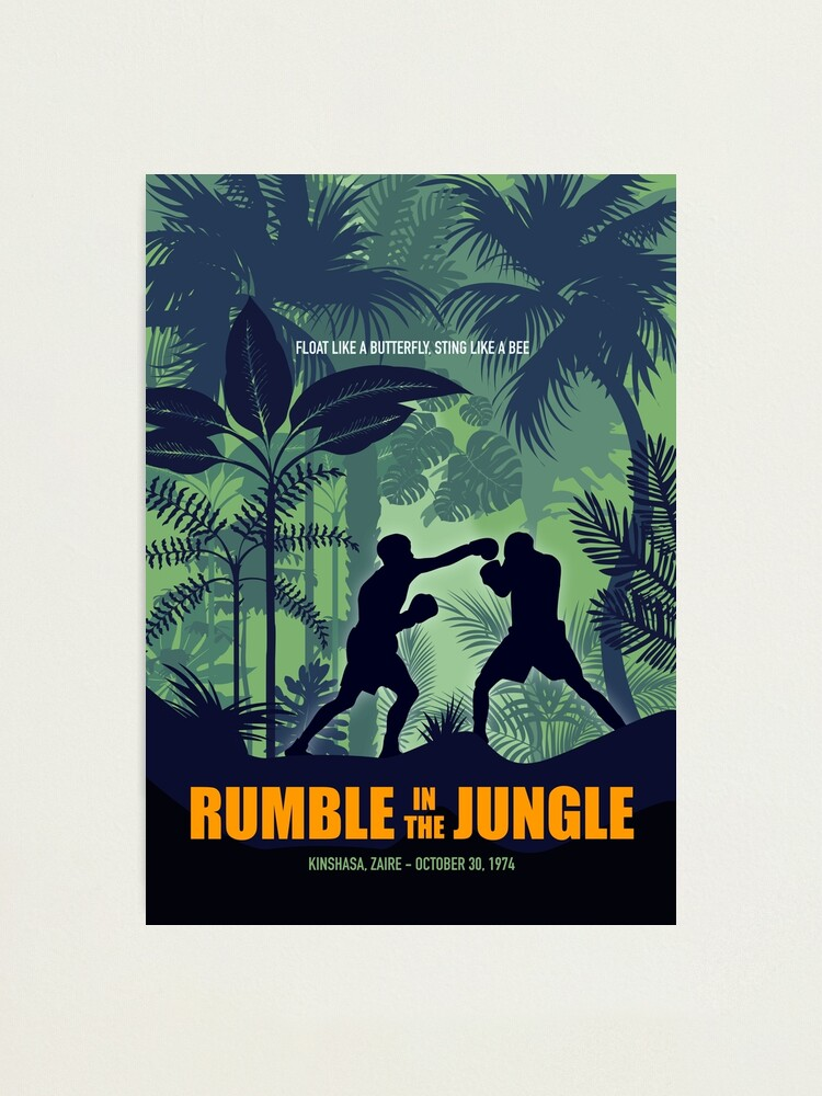Alternate view of Rumble in the Jungle - Alternative Movie Poster Photographic Print