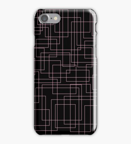 Pink and black boxes iPhone Case/Skin