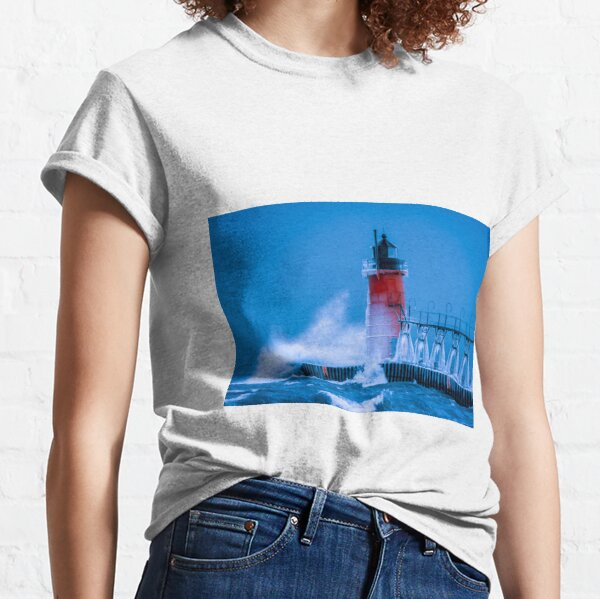 Winter Waves Breaking South Haven Classic T-Shirt