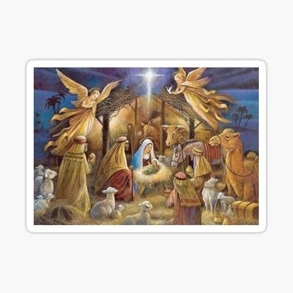 Christian Christmas Nativity Sticker