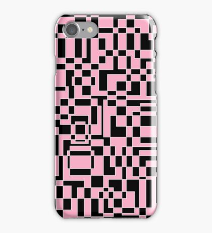 Pink and black negative iPhone Case/Skin