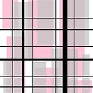 Pink and black Mondrian-esque by tdhanshew