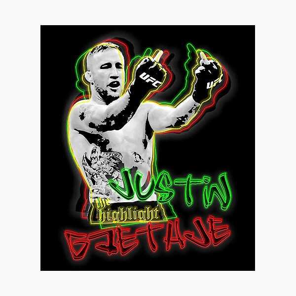 Justin Gaethje The Highlight Photographic Print