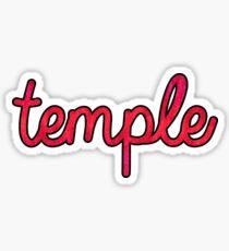 Temple Script Sticker