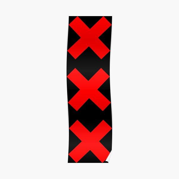 Bandera de Amsterdam (XXX) Póster