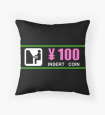 100 Yen Throw Pillow