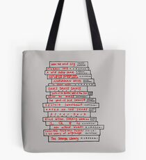 Haruki Murakami Book Fan Tote Bag