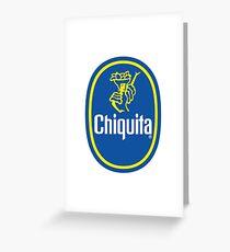 Chiquita Banana Logo Greeting Card