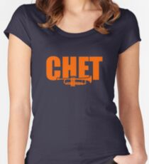 Jazz Chet & trumpet Women's Fitted Scoop T-Shirt
