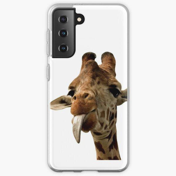 Giraffe mit süßer Zunge! Samsung Galaxy Flexible Hülle