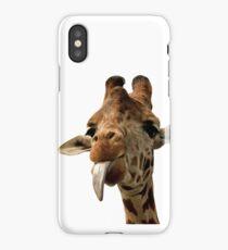 Giraffe with Cute Tongue! iPhone Case/Skin