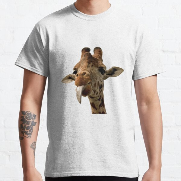 Giraffe mit süßer Zunge! Classic T-Shirt