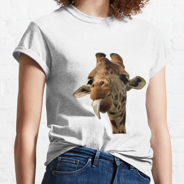 Giraffe with Cute Tongue! Classic T-Shirt